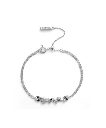 OLIVIA BURTON LONDON Under The Sea Chain Bracelet SilverOBJSCB01 – SHOPBAG_LABEL - Front view