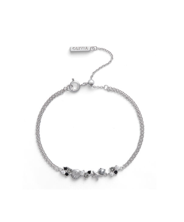 OLIVIA BURTON LONDON Under The Sea Chain Bracelet SilverOBJSCB01 – SHOPBAG_LABEL - Front view
