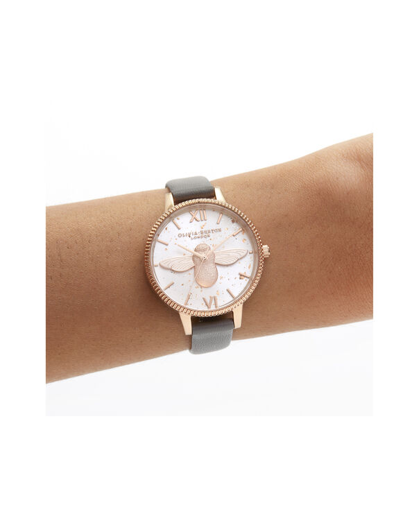 OLIVIA BURTON LONDON Celestial 3D Bee Demi Dial WatchOB16GD06 – Demi Dial in grey and Rose Gold - Other view