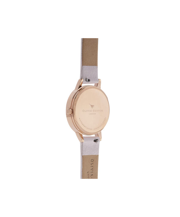 OLIVIA BURTON LONDON  Midi Dial Blossom & Rose Gold Watch OB16MDW36 – Midi Dial Round in White and Blossom - Back view