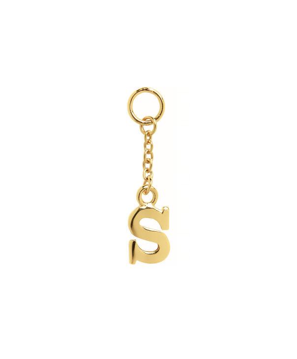 OLIVIA BURTON LONDON  S Alphabet Huggie Charm Gold OBJ16HCGS – Charms - Front view