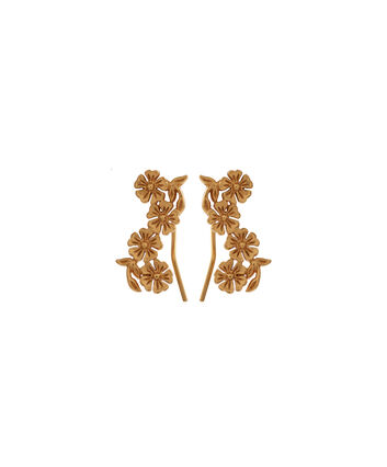OLIVIA BURTON LONDON  Lace Detail Crawler Earrings Gold OBJ16LDE04 – Lace Detail Crawler Earrings - Front view