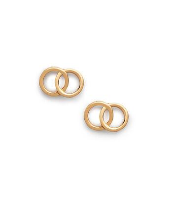 OLIVIA BURTON LONDON The Classics Interlink Earrings GoldOBJCOE73 – SHOPBAG_LABEL - Front view