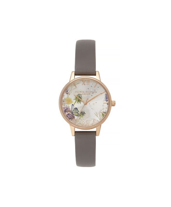 OLIVIA BURTON LONDON Wishing Watch Midi London Grey & Rose GoldOB16SG02 – Midi Dial in grey and Rose Gold - Front view