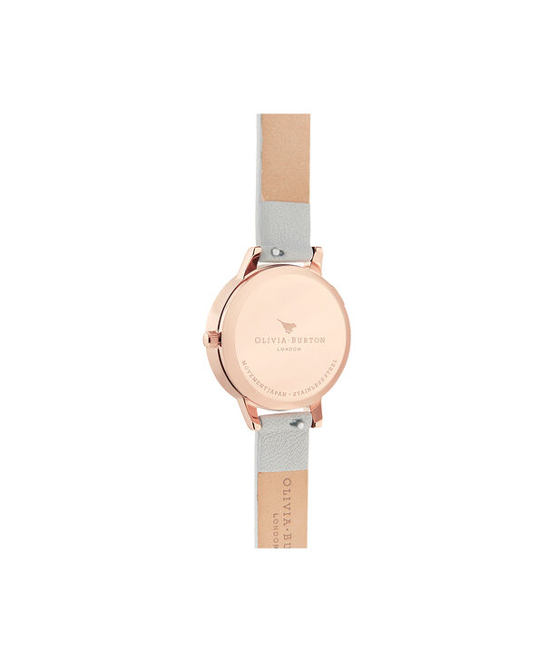 OLIVIA BURTON LONDON The Wishing Watch Grey & Rose GoldOB16SG08 – The Wishing Watch Grey & Rose Gold - Back view