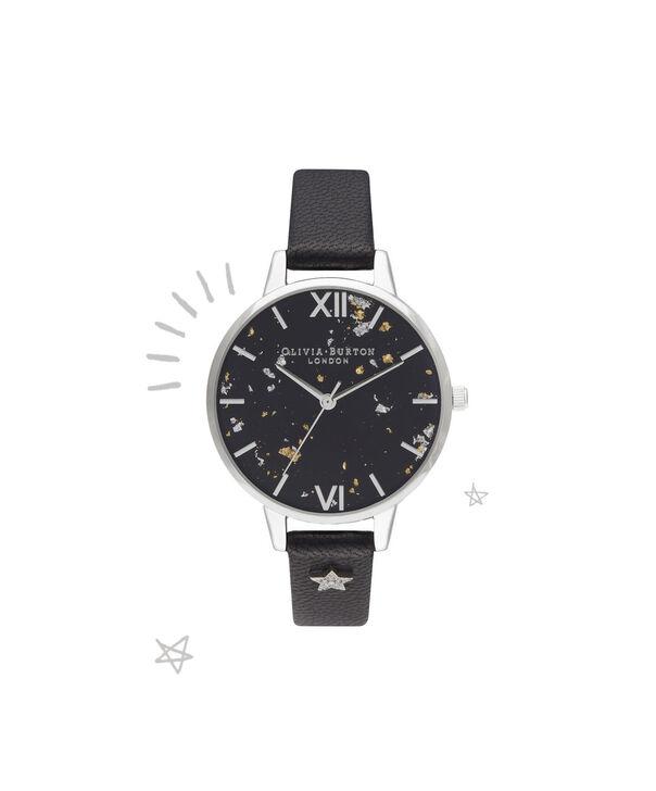 032164955 OLIVIA BURTON LONDON Celestial Star Demi Dial WatchOB16GD13 – Demi Dial in  black and Silver ...