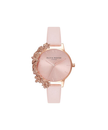 OLIVIA BURTON LONDON Case Cuff Nude Peach and Rose Gold OB16CB11 – Removable Case Cuff - Front view