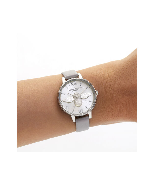 OLIVIA BURTON LONDON Celestial 3D Bee Demi Dial WatchOB16GD05 – Demi Dial in grey and Silver - Other view