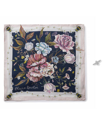 OLIVIA BURTON LONDON Pocket Square and Bee Pin Gift Set OBJGSET05 – Pocket Square and Bee Pin Gift Set - Front view