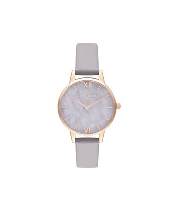 OLIVIA BURTON LONDON Midi Amethyst Lilac & Rose GoldOB16SP17 – Midi Dial in Grey Lilac and Rose Gold - Front view