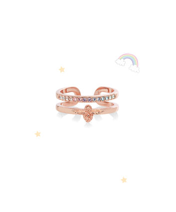 OLIVIA BURTON LONDON Rainbow Bee Ring Rose GoldOBJAMR26 – Ring in Rose Gold - Front view