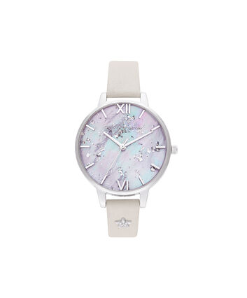 OLIVIA BURTON LONDON Celestial Star Mother of Pearl Dial, Blush & SilverOB16GD42 – SHOPBAG_LABEL - Front view