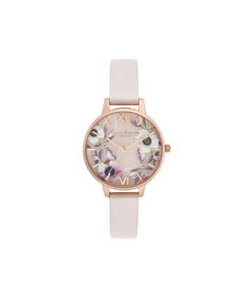 OLIVIA BURTON LONDON Semi Precious Demi Dial WatchOB16SP14 – Demi Dial in pink and Rose Gold - Front view