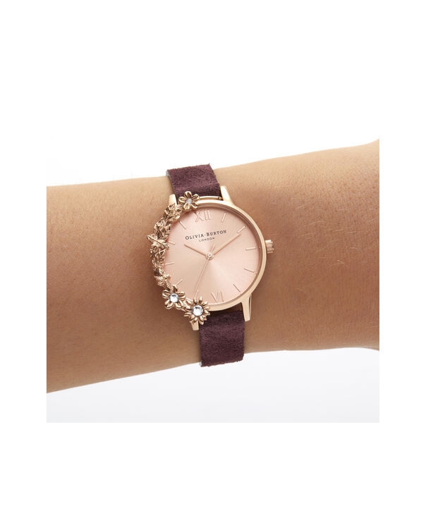 OLIVIA BURTON LONDON Case Cuff Diamante Midi Dial WatchOB16CB21 – Midi Dial in pink and  Rose Gold - Other view