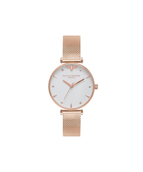 Ladies Rose Gold Mesh Watch | Olivia Burton London