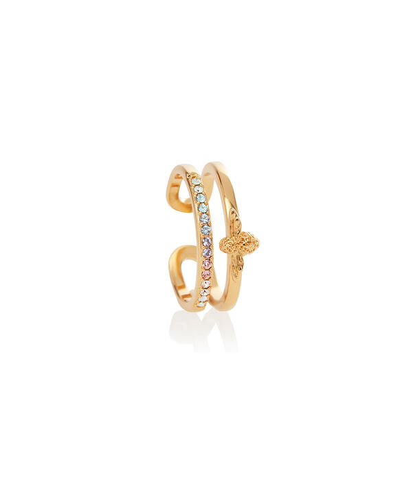 OLIVIA BURTON LONDON Rainbow Bee Ring GoldOBJAMR27 – Ring in Gold - Side view