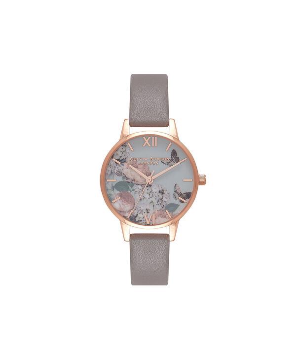 Ladies Midi Signature Floral London Grey & Rose Gold Watch | Olivia Burton London