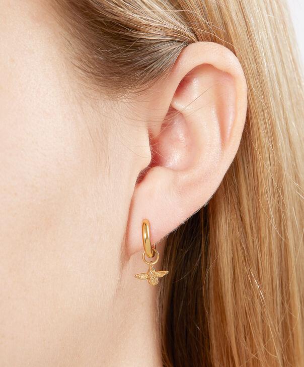 Olivia Burton London Bee Huggie Hoop Earrings Gold Obj16ame34