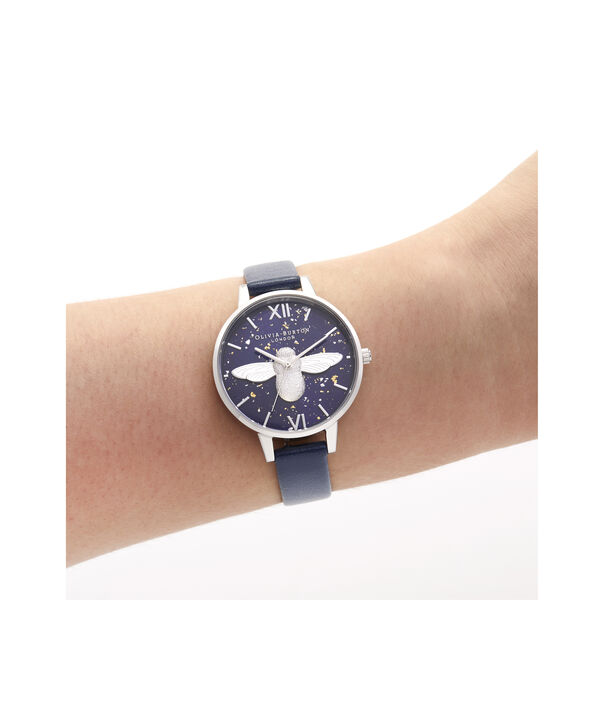 OLIVIA BURTON LONDON 3D Bee, Midnight, Navy & SilverOB16GD04 – Demi Dial in Navy and Silver - Other view