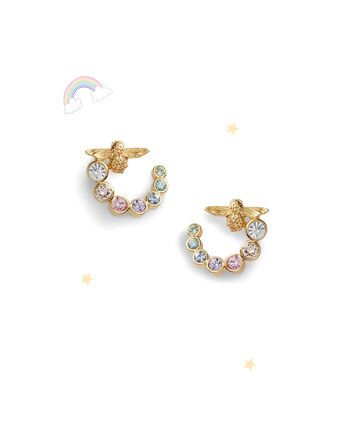 OLIVIA BURTON LONDON Rainbow Bee Swirl Hoop Earrings GoldOBJAME132 – Earrings in Gold - Front view
