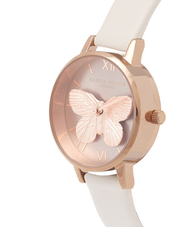 6feaabba2922 ... OLIVIA BURTON LONDON 3D Butterfly Blush   Rose Gold OB16MB16 – Midi  Round in Rose Gold ...