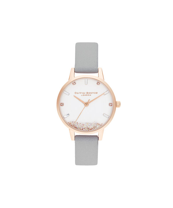 OLIVIA BURTON LONDON The Wishing Watch Grey & Rose GoldOB16SG08 – The Wishing Watch Grey & Rose Gold - Front view