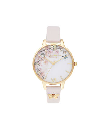 OLIVIA BURTON LONDON Pretty Blossom Demi Blossom & GoldOB16EG123 – Pretty Blossom Demi Blossom & Gold - Front view