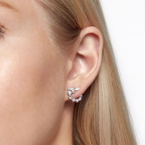 OLIVIA BURTON LONDON Rainbow Bee Swirl Hoop Earrings SilverOBJAME133 – Earrings in Silver - Back view