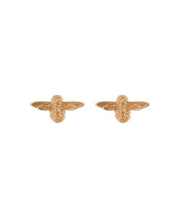 OLIVIA BURTON LONDON 3D BeeOBJ16AME22 – 3D Bee Stud Earrings - Front view