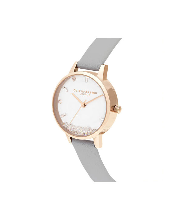 OLIVIA BURTON LONDON The Wishing Watch Grey & Rose GoldOB16SG08 – The Wishing Watch Grey & Rose Gold - Side view