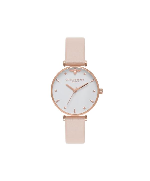 Ladies T-Bar Nude Peach & Rose Gold Watch | Olivia Burton London