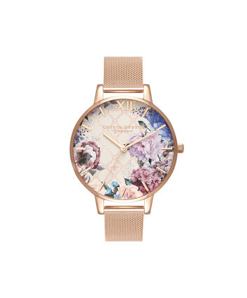 OLIVIA BURTON LONDON GlasshouseOB16EG86 – Big Dial Round in Rose Gold - Front view