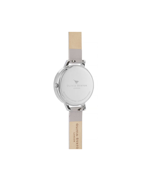 OLIVIA BURTON LONDON Celestial 3D Bee Demi Dial WatchOB16GD05 – Demi Dial in grey and Silver - Back view