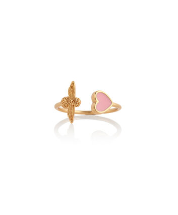 OLIVIA BURTON LONDON Love Bug Ring Pink & GoldOBJLHR07 – SHOPBAG_LABEL - Front view