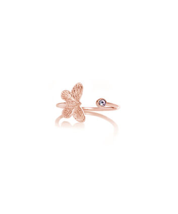 OLIVIA BURTON LONDON Bejewelled Butterfly Rose Gold & TanzaniteOBJ16MBR01 – Ring in  and Rose Gold - Front view