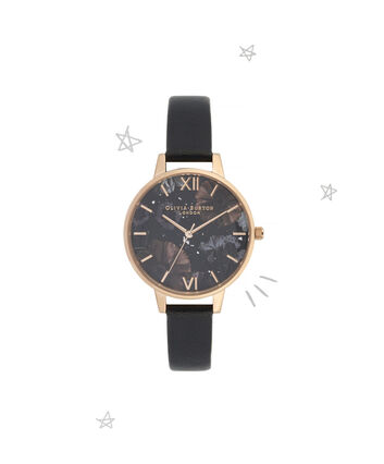 OLIVIA BURTON LONDON Celestial Demi Dial WatchOB16GD22 – Demi Dial in black and Rose Gold - Front view