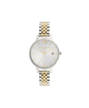 OLIVIA BURTON LONDON Sunray Demi Dial WatchOB16DE05 – gold and Silver & Gold - Front view