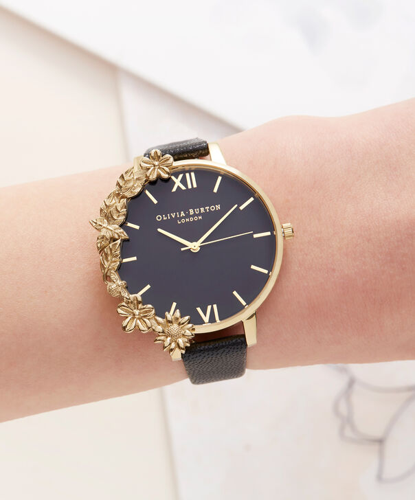 OLIVIA BURTON LONDON Case Cuff Black Dial and GoldOB16CB07 – Removable Case Cuff - Other view