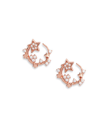 OLIVIA BURTON LONDON Celestial Swirl Hoops Rose GoldOBJ16CLE09 – Celestial Swirl Hoops Rose Gold - Front view