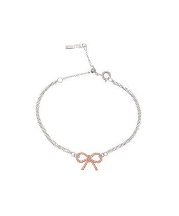 b51e716542bd OLIVIA BURTON LONDON Vintage Bow Chain Bracelet Silver and Rose Gold  OBJ16VBB04 – Vintage Bow Chain