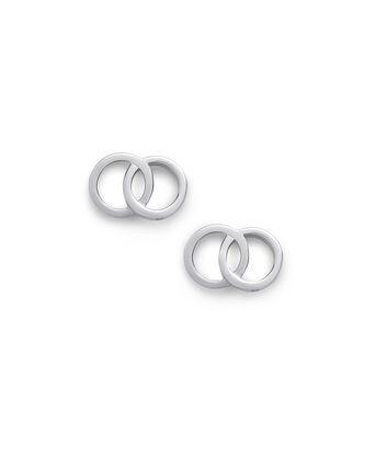 OLIVIA BURTON LONDON The Classics Interlink Earrings SilverOBJCOE71 – SHOPBAG_LABEL - Front view