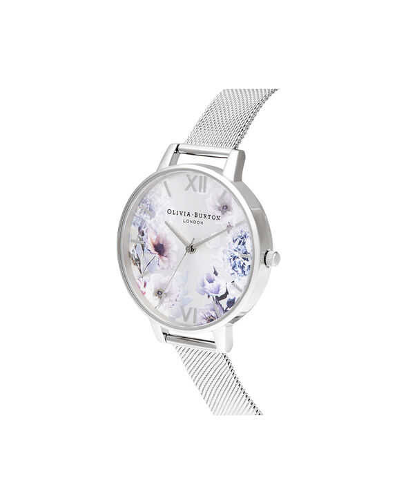 OLIVIA BURTON LONDON Sunlight Florals Big Dial Silver MeshOB16EG117 – Sunlight Florals Big Dial Silver Mesh - Side view