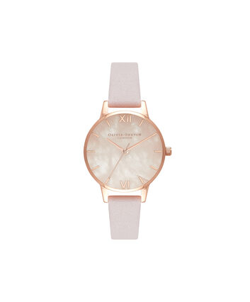OLIVIA BURTON LONDON Semi PreciousOB16SP02 – Midi Dial Round in Rose Gold - Front view