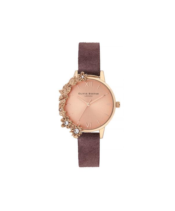 OLIVIA BURTON LONDON Case Cuff Diamante Midi Dial WatchOB16CB21 – Midi Dial in pink and  Rose Gold - Front view