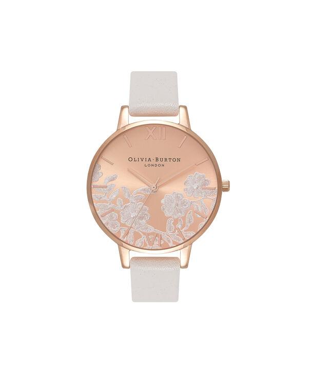 Ladies Lace Detail Blush & Rose Gold Watch | Olivia Burton London