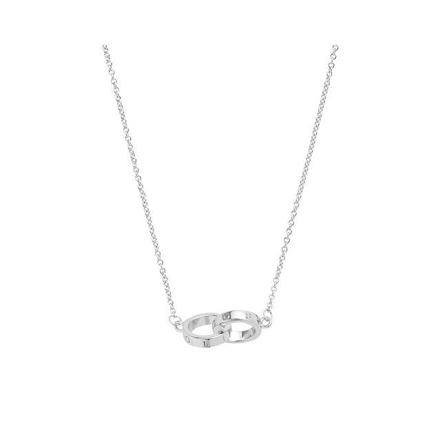 Interlink Silver Necklace