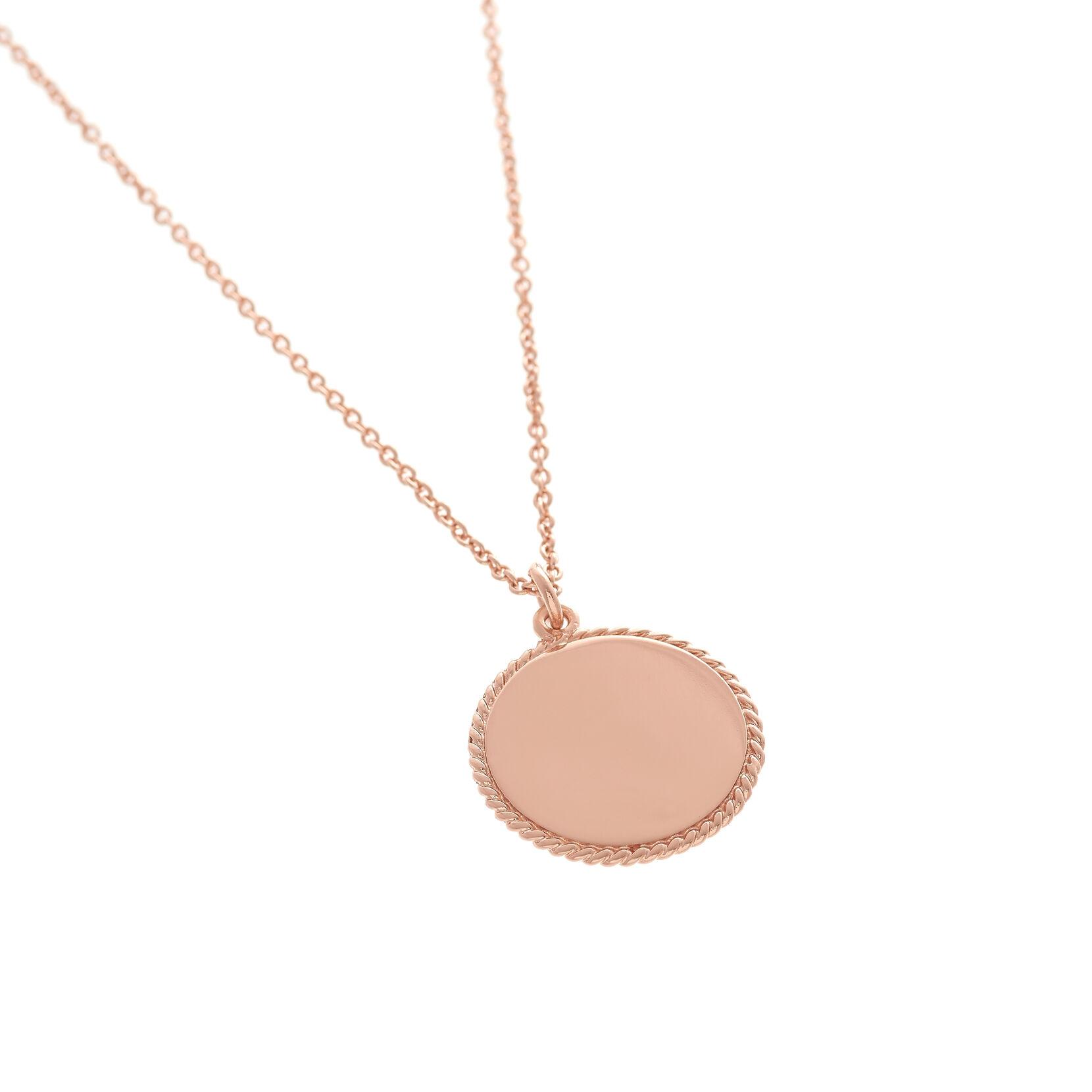 Ladies Engravables Disc Necklace Rose Gold Olivia Burton London