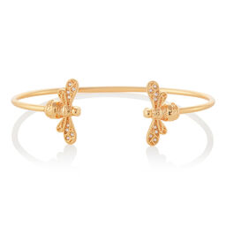 Sparkle Bee Gold Bangle
