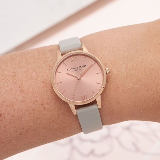 Midi Dial gray And Rose Gold Watch