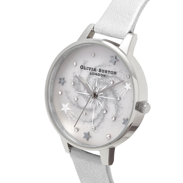 Celestial Demi Dial Silver & Shimmer Pearl Watch